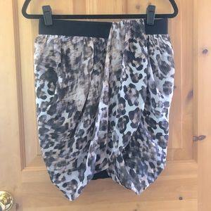 H&M Leopard Print Wrap Bubble Skirt